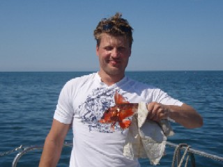 lithuanian angler with red gurnard
